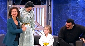 The Seagals family at Andrey Malakhov's talk-show.