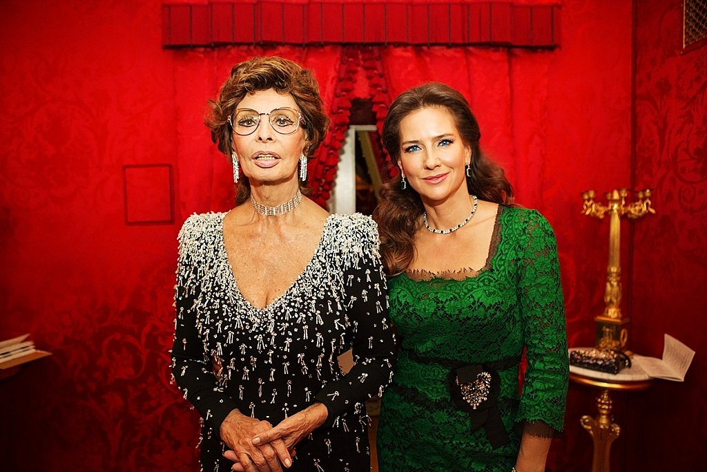 Elena Sever and Sophia Loren