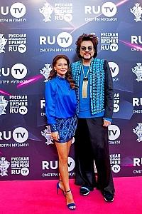 Елена Север и Филипп Киркоров на ковровой дорожке Премии RU.TV