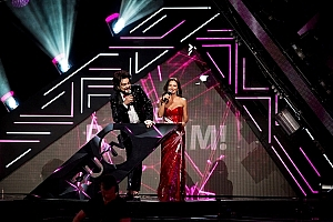 Елена Север и Филипп Киркоров на премии РУ ТВ