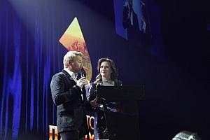 Елена Север и Николай Басков ведущие Золотого Граммофона в Санкт-Петербурге 2018