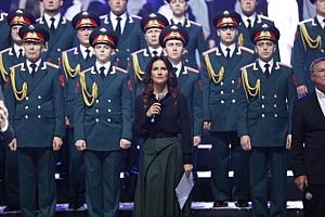 Елена Север на концерте посвященному 75-ю годовщину полного освобождения от фашистской блокады